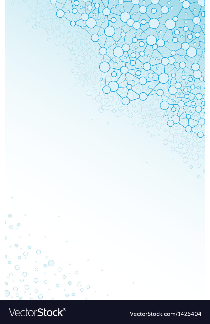 Molecular structure scientific vertical background vector | Price: 1 Credit (USD $1)