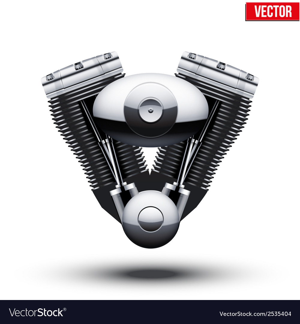 Retro motorcycle engine vector | Price: 1 Credit (USD $1)
