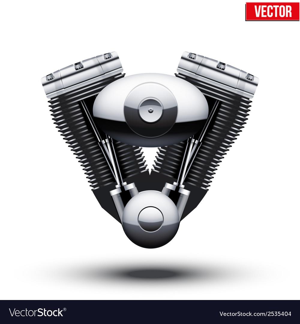 Retro motorcycle engine vector | Price: 1 Credit (USD $1)