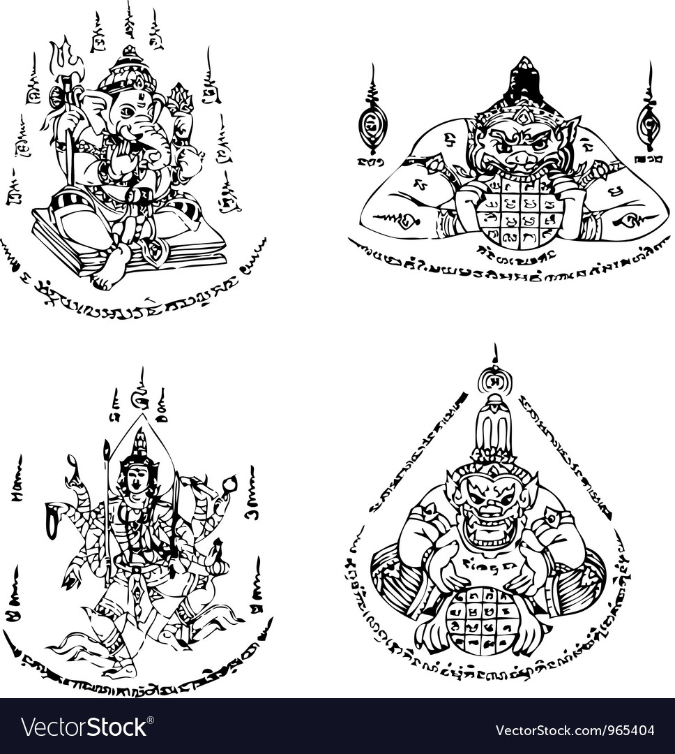 Thai tattoo ancient template vector | Price: 1 Credit (USD $1)