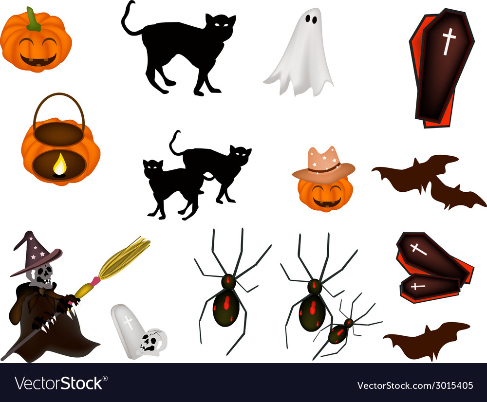 An set of various halloween item vector | Price: 1 Credit (USD $1)