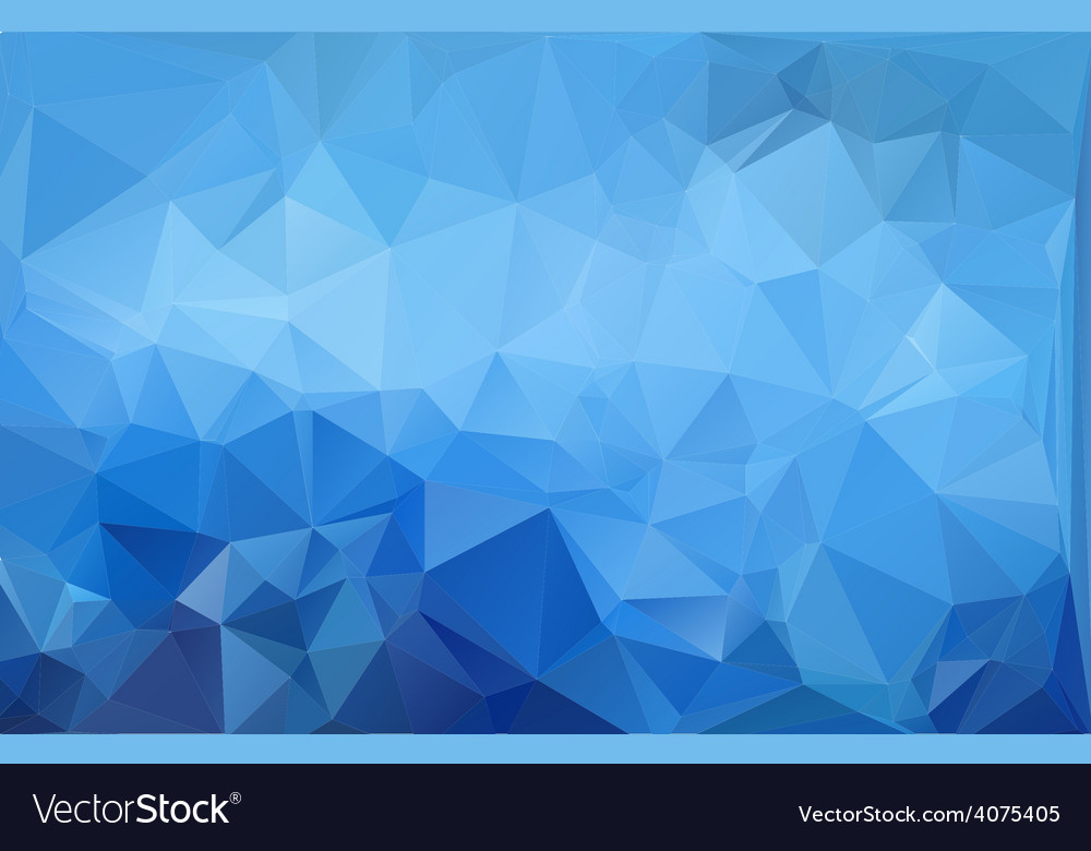 Blue light polygonal mosaic background vector | Price: 1 Credit (USD $1)