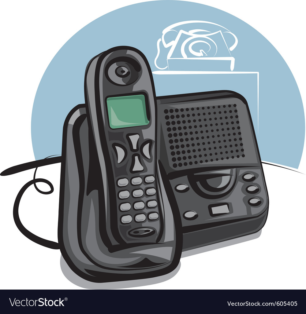 Cordless phone vector | Price: 3 Credit (USD $3)