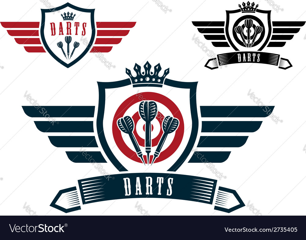 Darts sporting emblems vector | Price: 1 Credit (USD $1)
