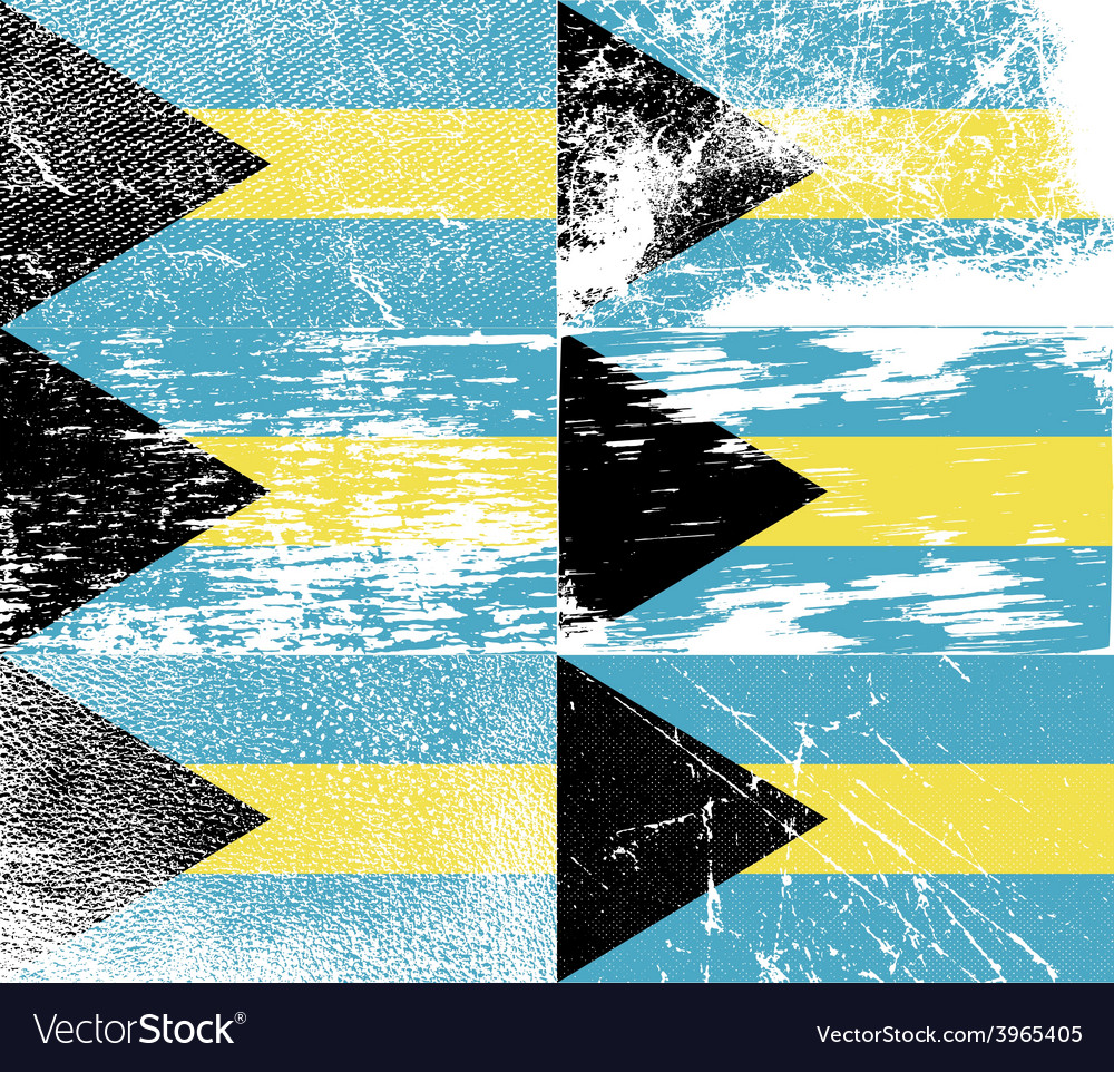 Flag of bahamas with old texture vector   Price: 1 Credit (USD $1)