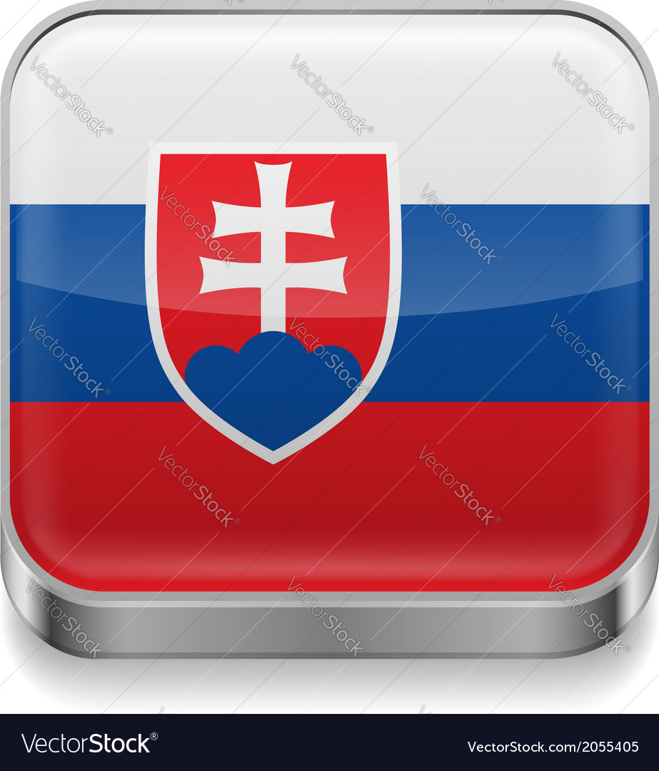 Metal icon of slovakia vector | Price: 1 Credit (USD $1)