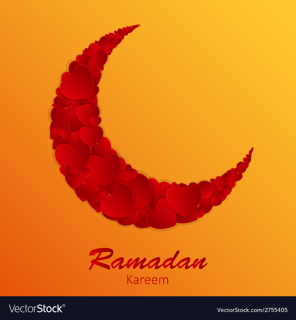 Moon background for muslim community festival vector   Price: 1 Credit (USD $1)