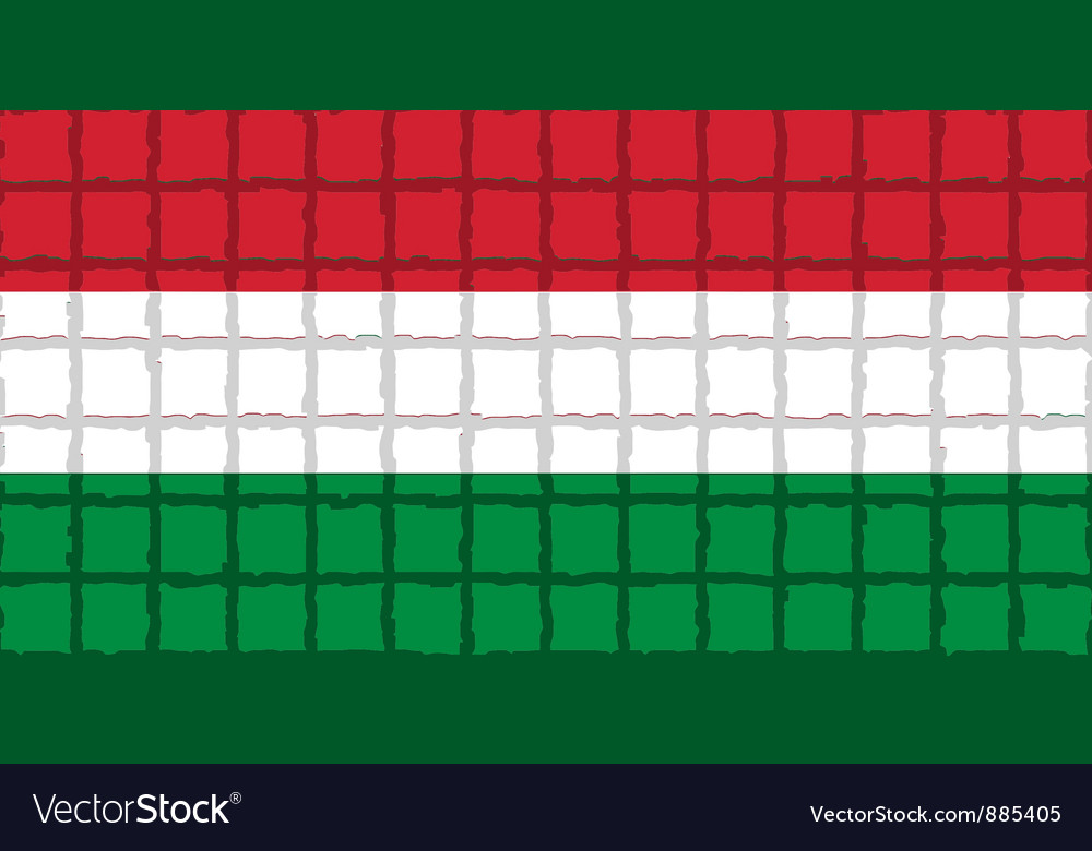 The mosaic flag of hungary vector | Price: 1 Credit (USD $1)