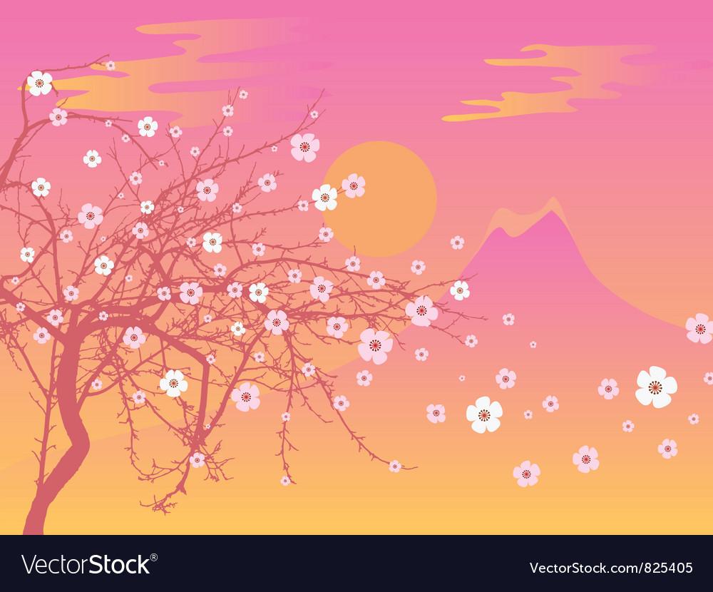 Sakura and fuji vector | Price: 1 Credit (USD $1)
