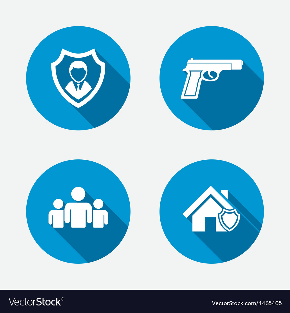 Security agency icons home shield protection vector | Price: 1 Credit (USD $1)