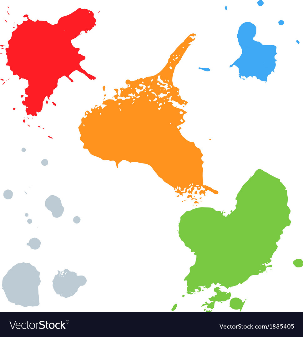 Set of colorful blots vector | Price: 1 Credit (USD $1)