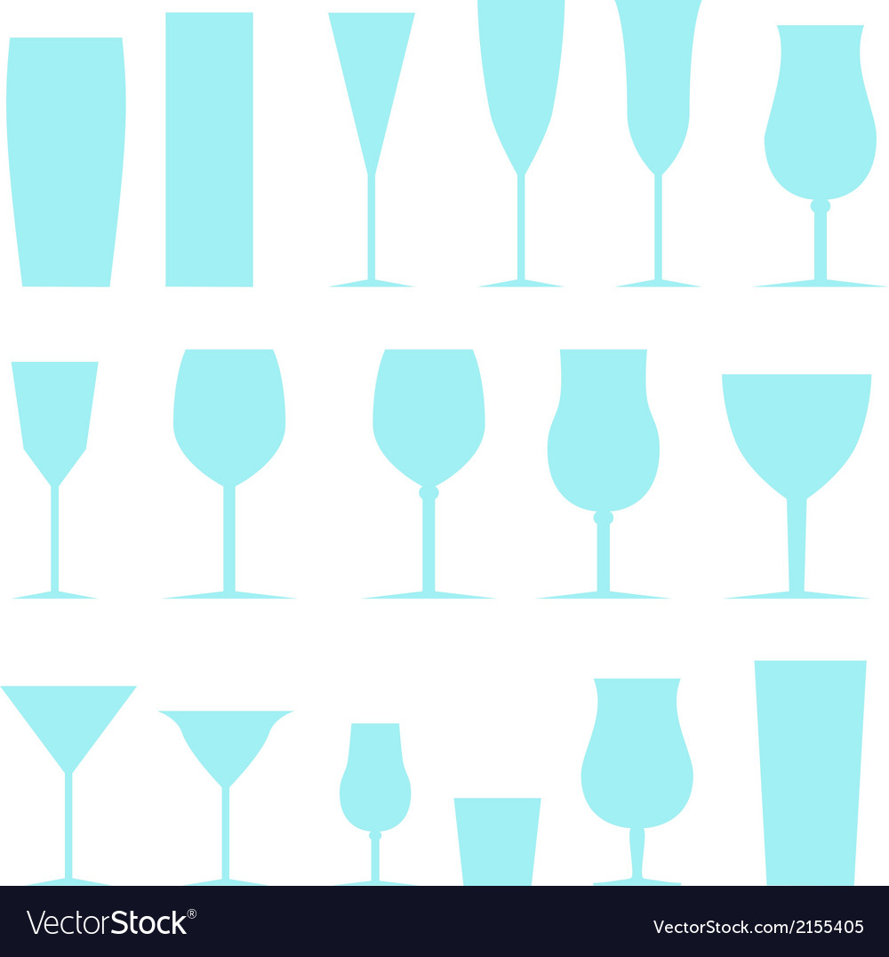 Set of glasses vector | Price: 1 Credit (USD $1)