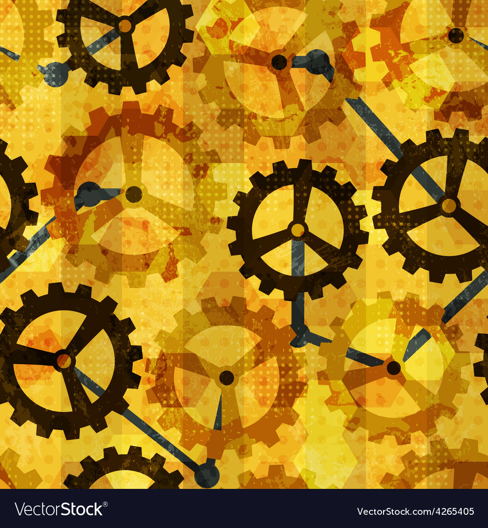 Steampunk cogwheel grunge seamless vector | Price: 1 Credit (USD $1)
