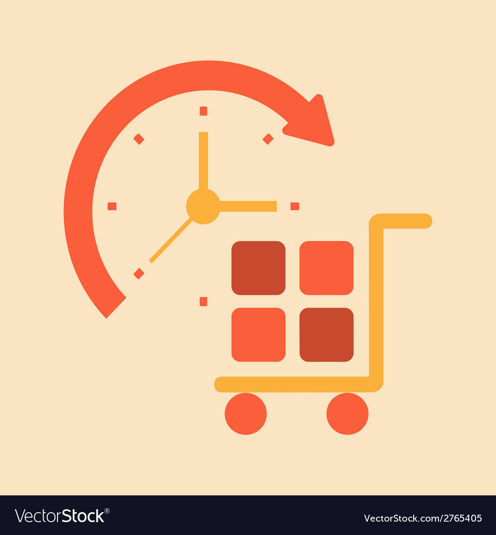 Time transport and handling of goods vector | Price: 1 Credit (USD $1)