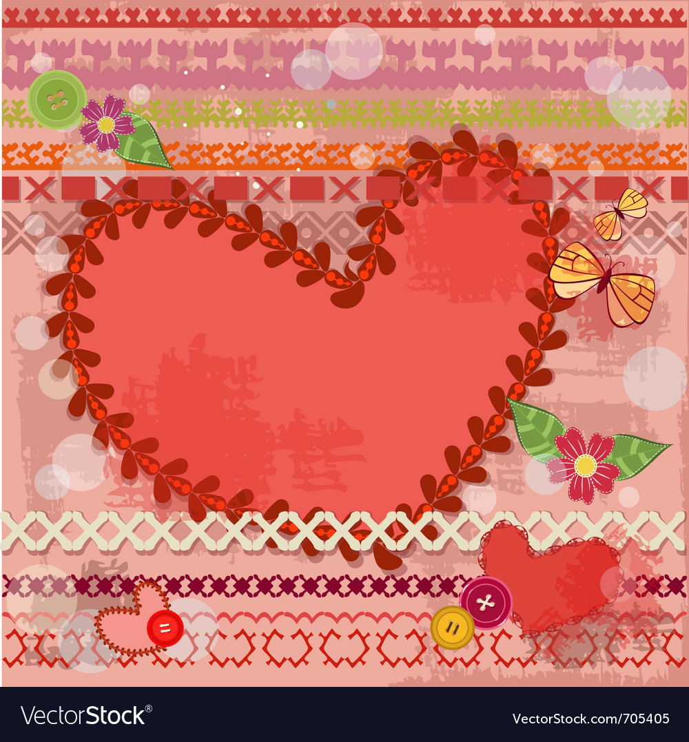 Valentine handmade retro vector | Price: 1 Credit (USD $1)