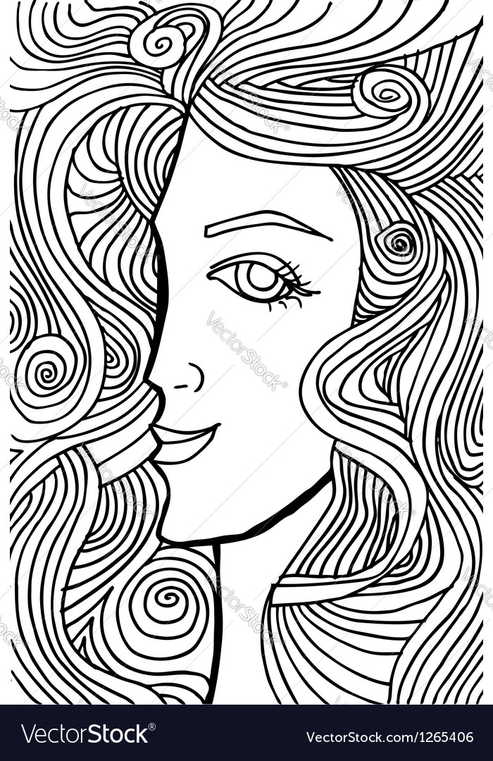 Abstract woman face vector | Price: 1 Credit (USD $1)