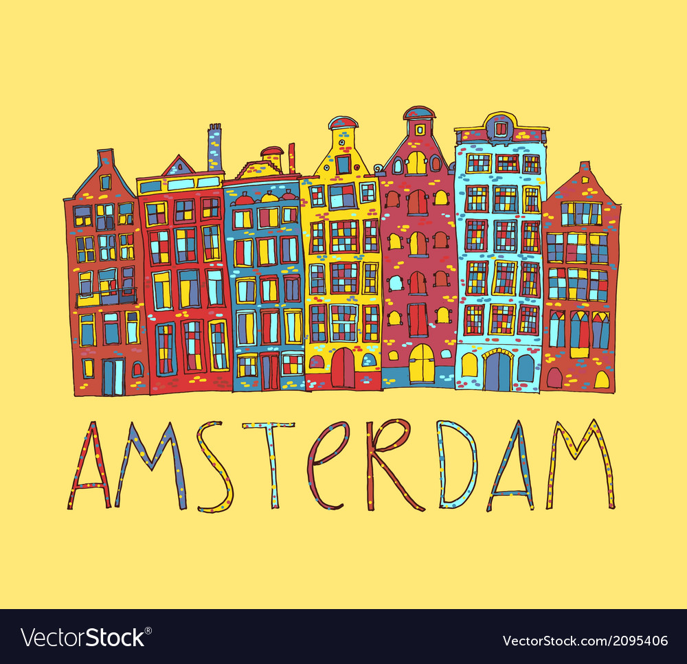 Amsterdam card vector | Price: 1 Credit (USD $1)