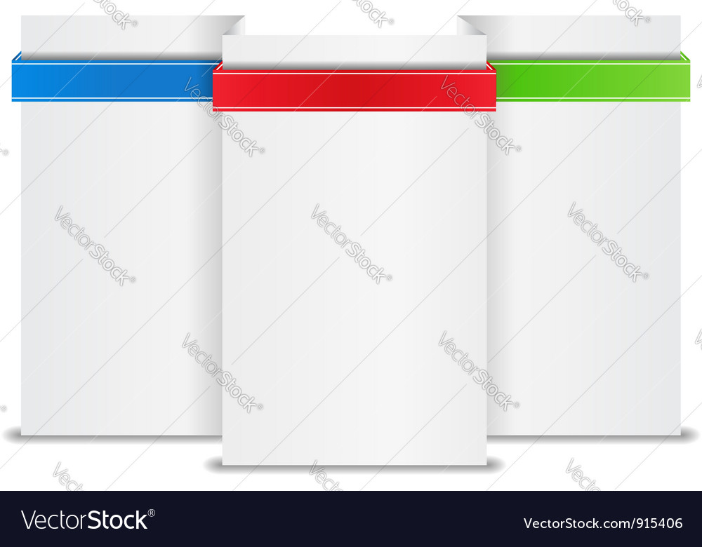 Blank paper banner vector | Price: 1 Credit (USD $1)