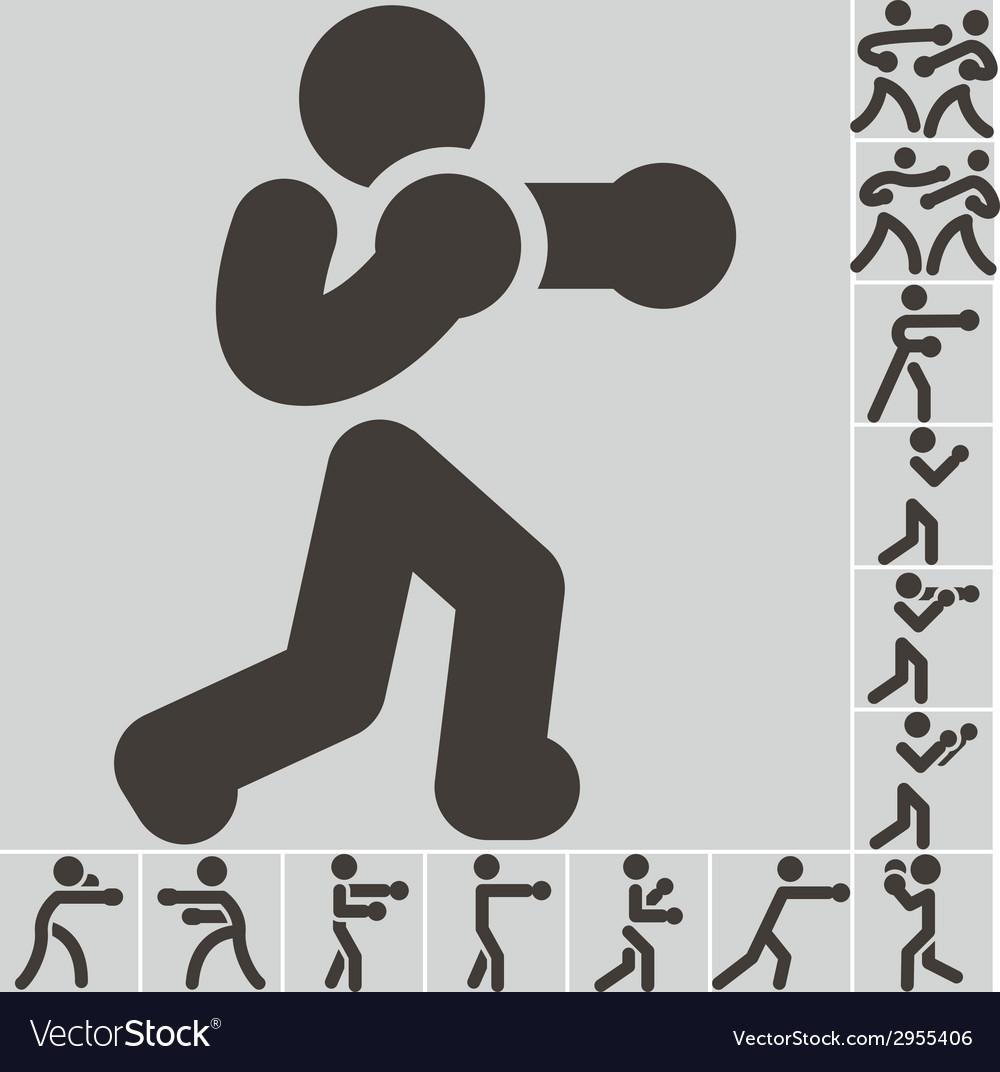 Boxing icon vector   Price: 1 Credit (USD $1)