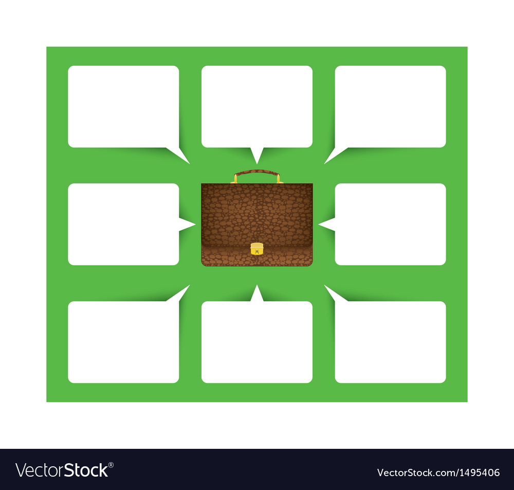 Business background with briefcase and bubble vector | Price: 1 Credit (USD $1)