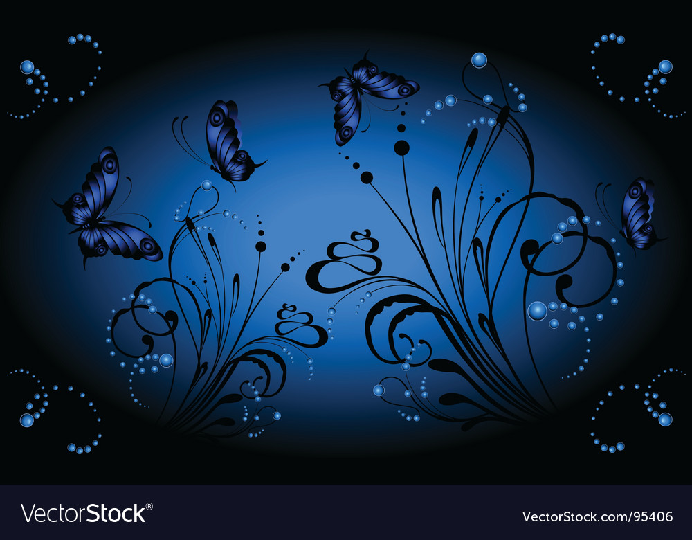 Butterfly background vector | Price: 1 Credit (USD $1)