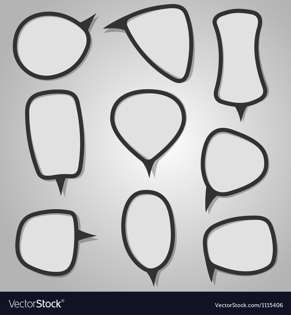 Calligraphic speech bubbles vector | Price: 1 Credit (USD $1)