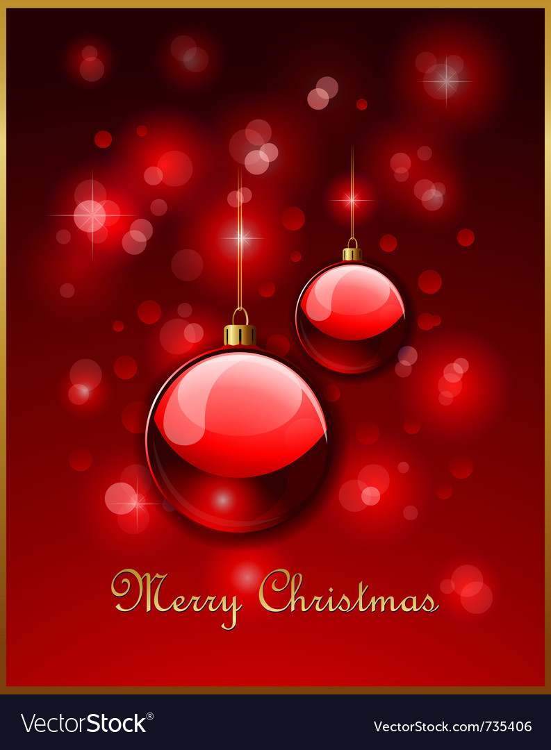 Christmas greeting card design vector | Price: 1 Credit (USD $1)