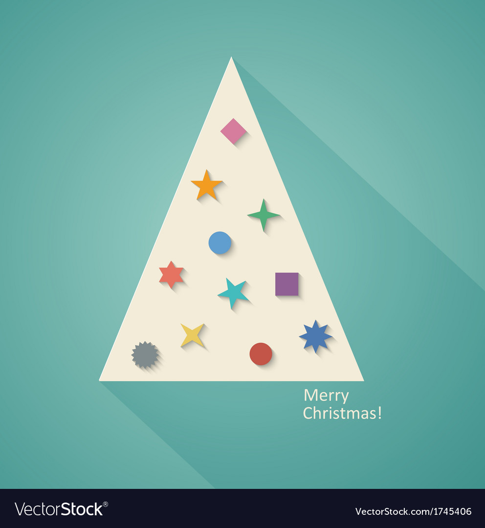Geometric christmas tree vector | Price: 1 Credit (USD $1)