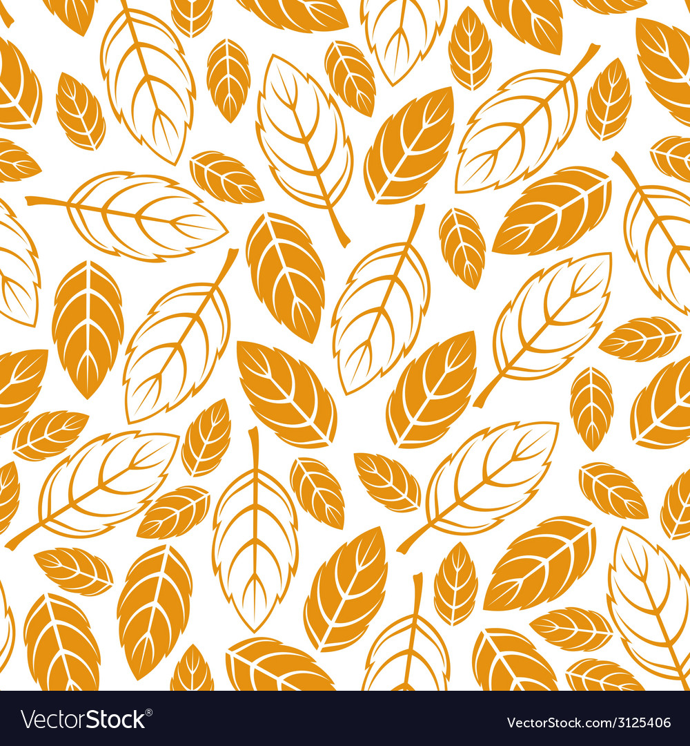 Leaves seamless autumn vector | Price: 1 Credit (USD $1)