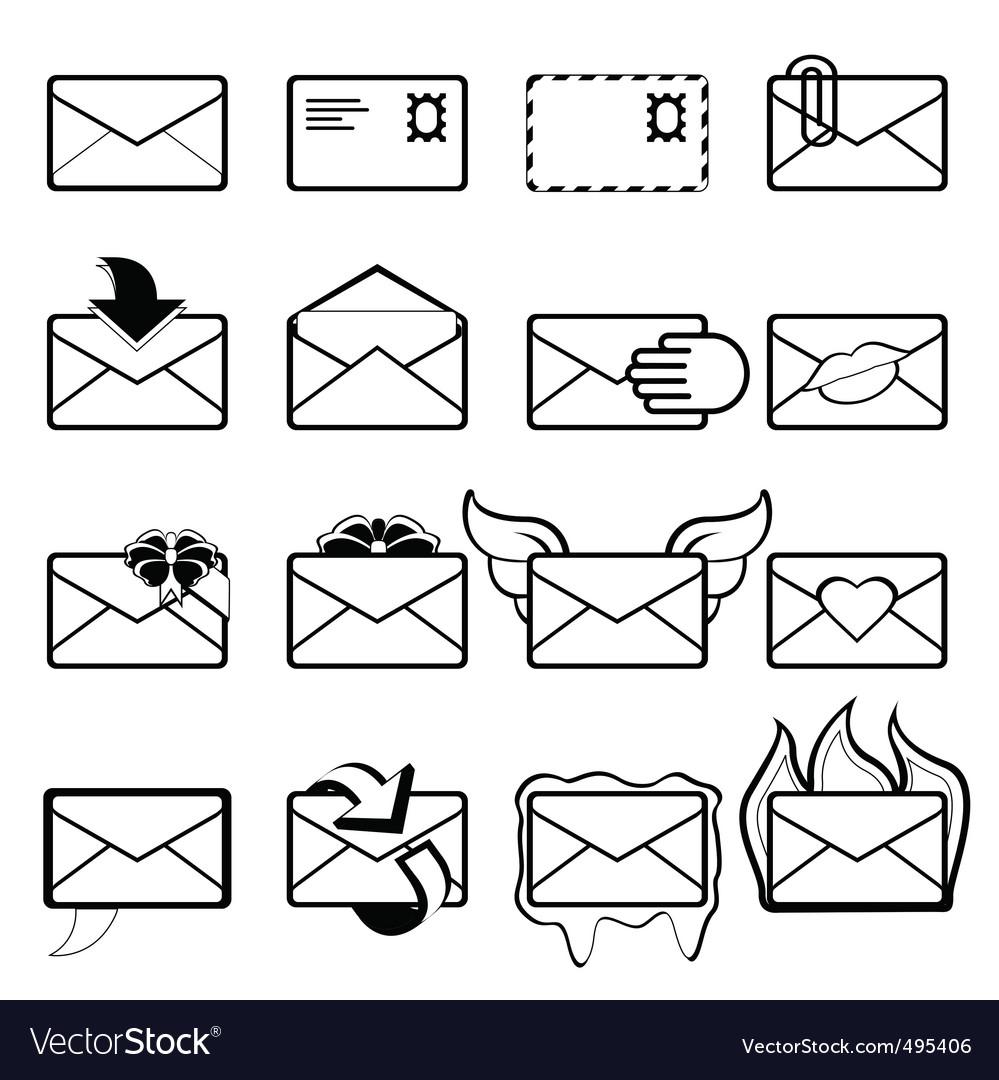 Letter set vector | Price: 1 Credit (USD $1)