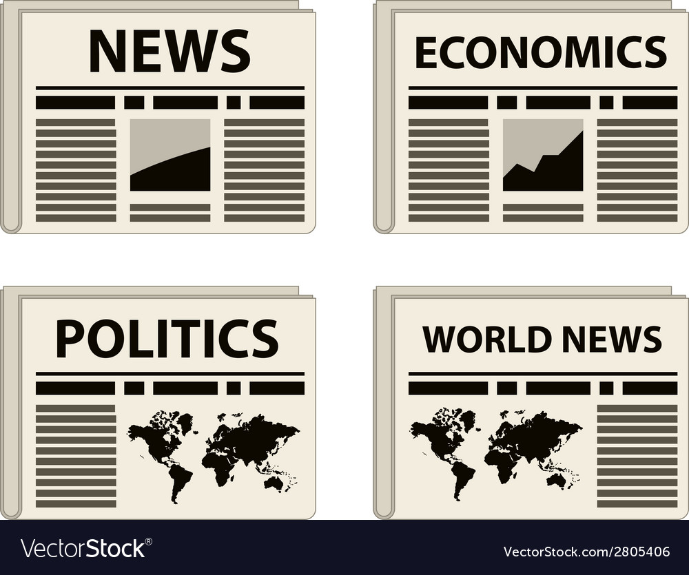 Newspaper icons vector | Price: 1 Credit (USD $1)