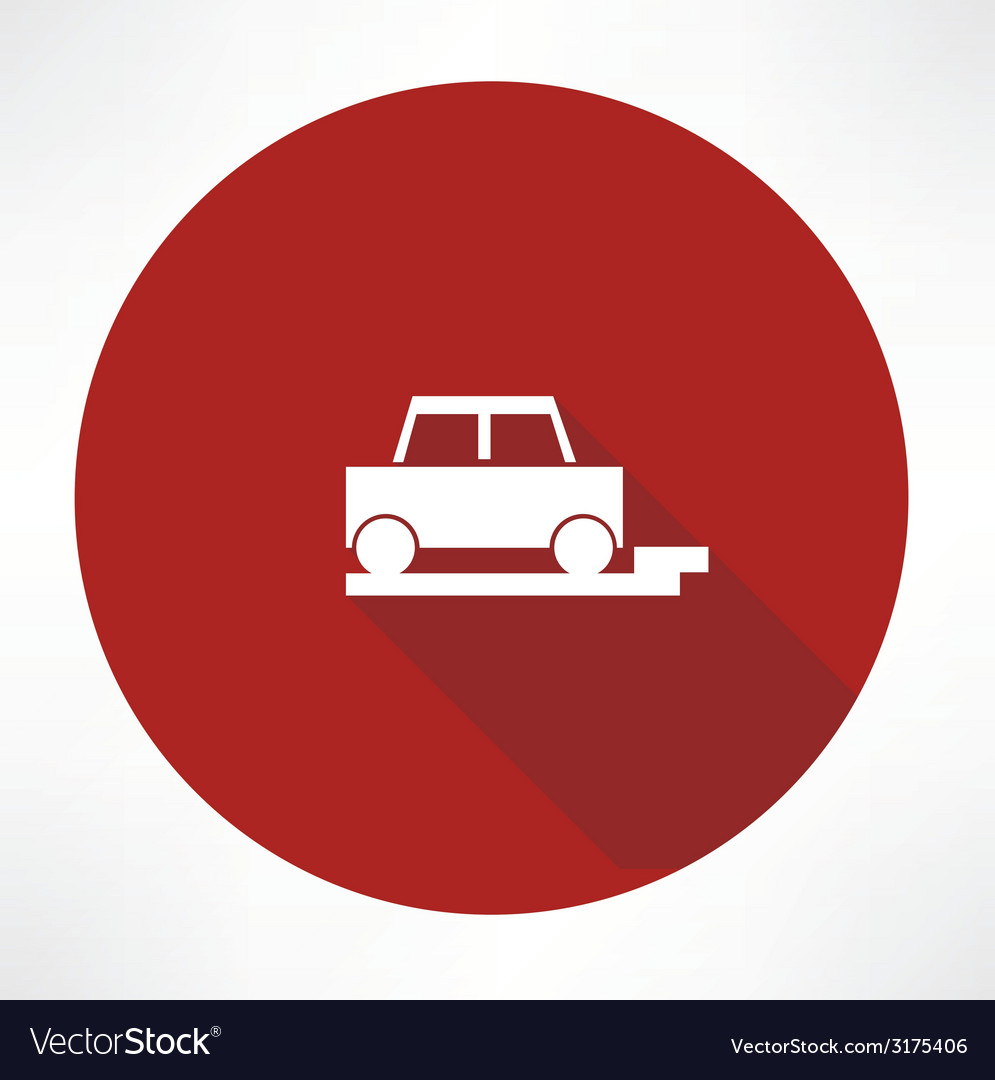 Parked car icon vector | Price: 1 Credit (USD $1)