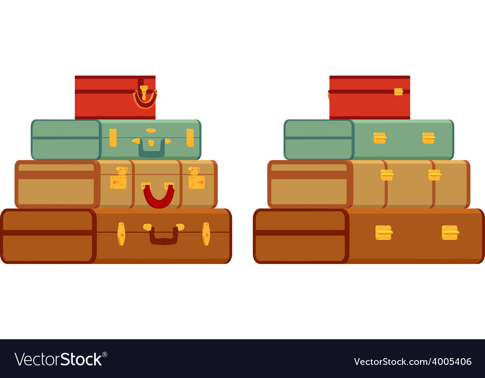 Travelers suitcases vector | Price: 1 Credit (USD $1)