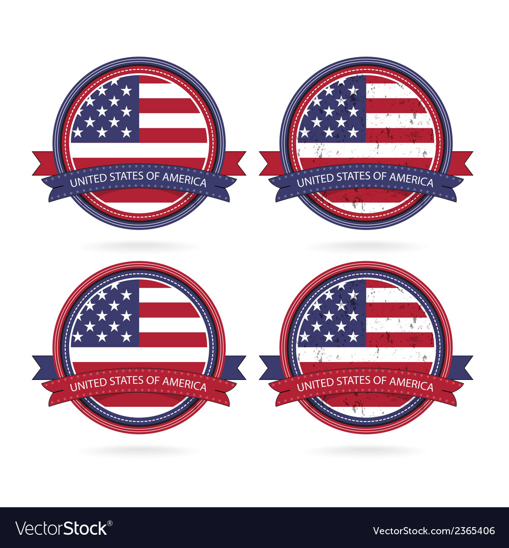 United stated flag banner vector | Price: 1 Credit (USD $1)