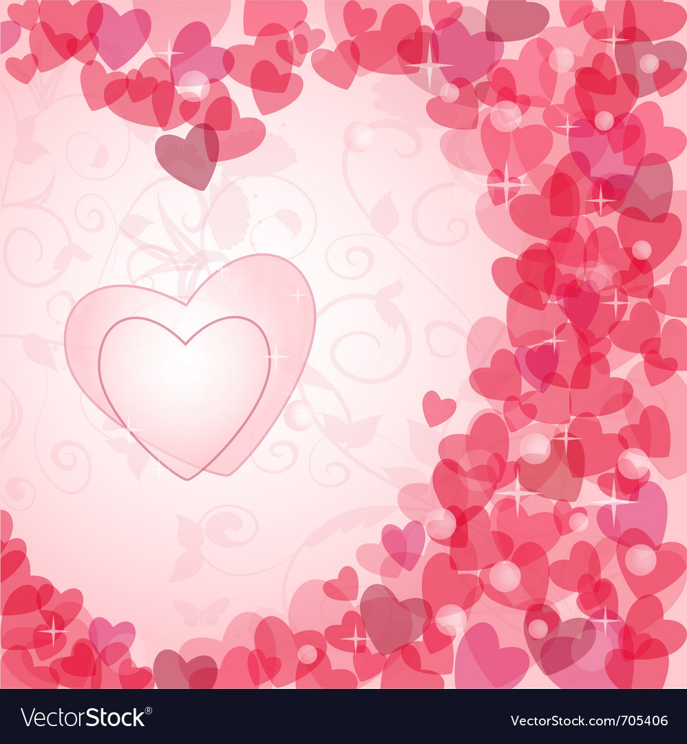 Vintage valentine postcard vector | Price: 1 Credit (USD $1)