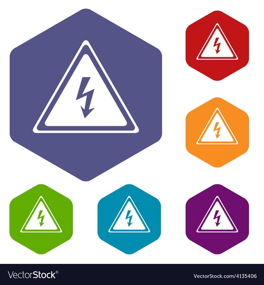 Voltage rhombus icons vector | Price: 1 Credit (USD $1)