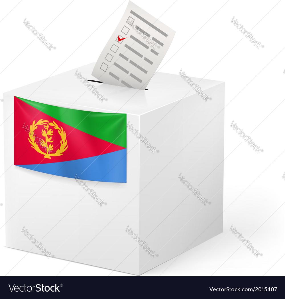 Ballot box with voting paper eritrea vector | Price: 1 Credit (USD $1)