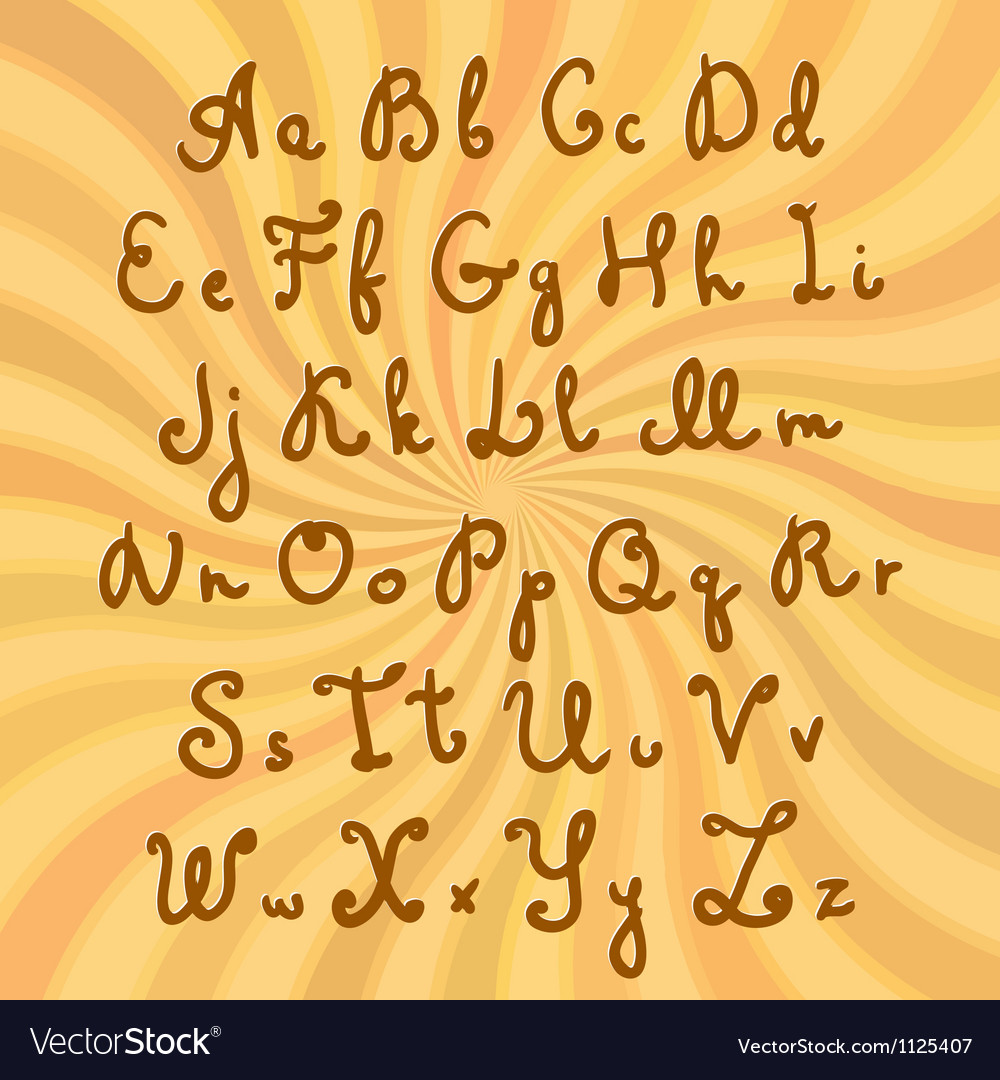 Doodle sweet chocolate font vector | Price: 1 Credit (USD $1)