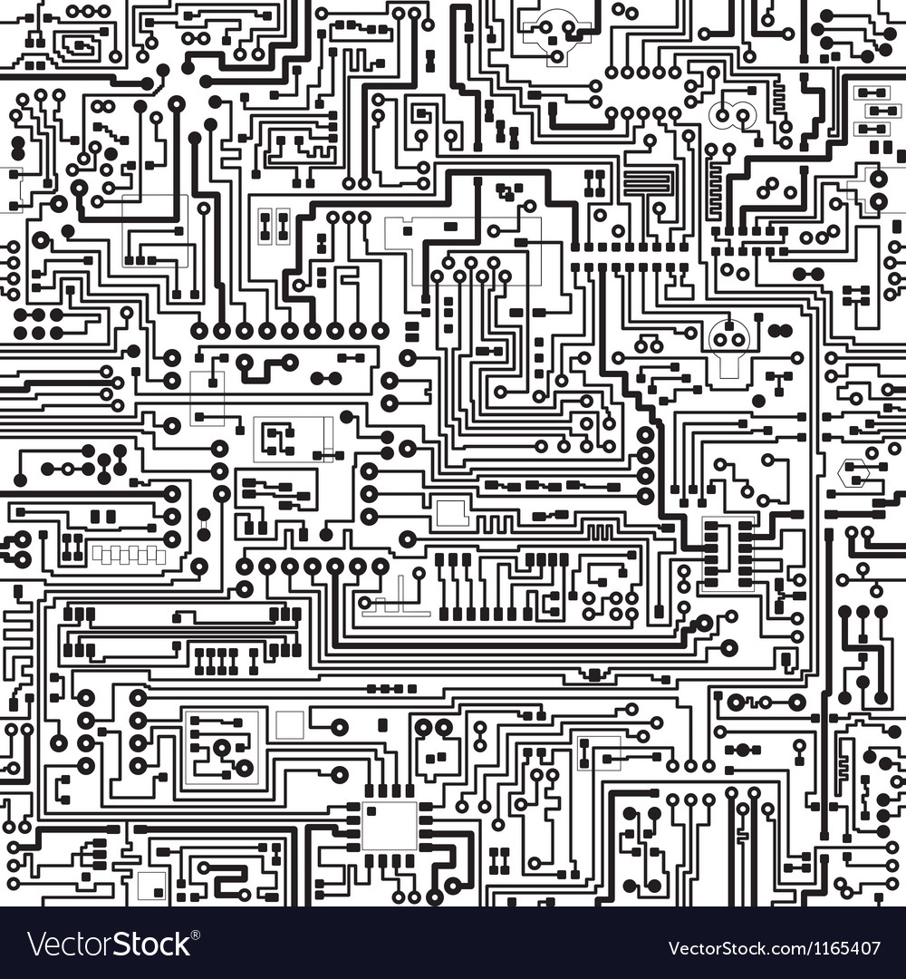 Electric circuit pattern vector | Price: 1 Credit (USD $1)