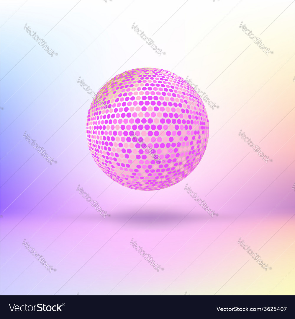 Halftone color sphere vector | Price: 1 Credit (USD $1)