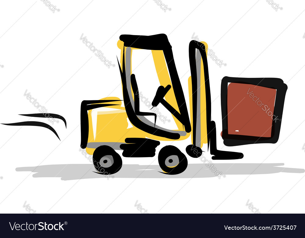 Loader construction equipment for your design vector | Price: 1 Credit (USD $1)