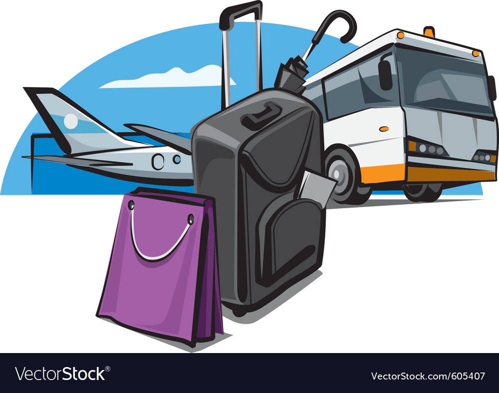 Luggage at the airport vector | Price: 3 Credit (USD $3)
