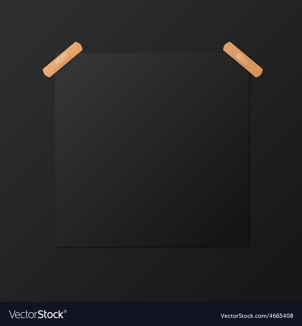 Black blank square poster mock-up template vector | Price: 1 Credit (USD $1)