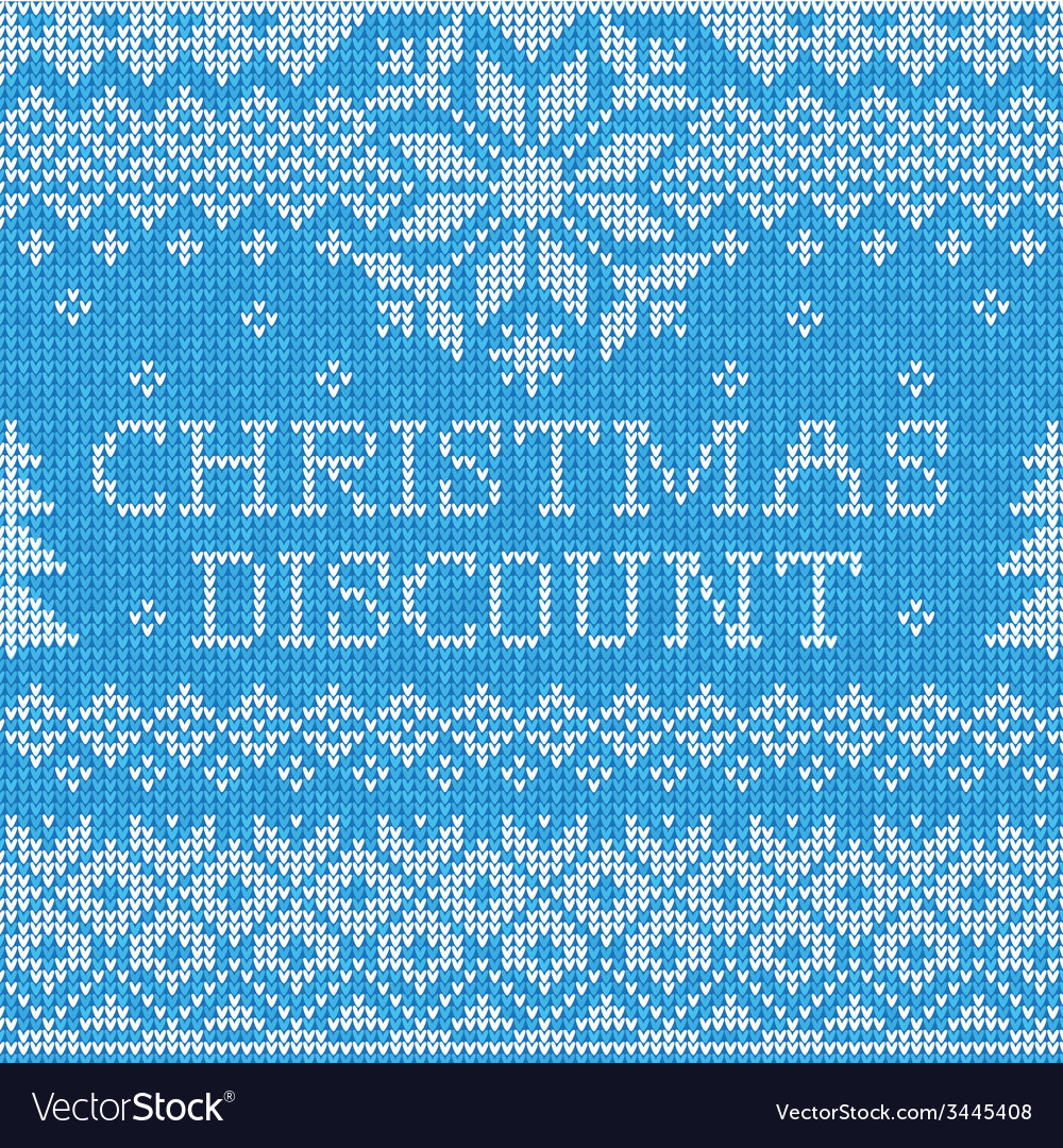 Christmas discount scandinavian style seamless vector | Price: 1 Credit (USD $1)