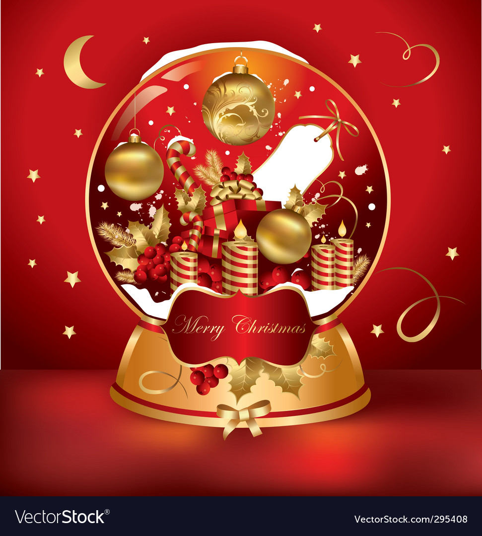 Christmas snow globe vector | Price: 3 Credit (USD $3)