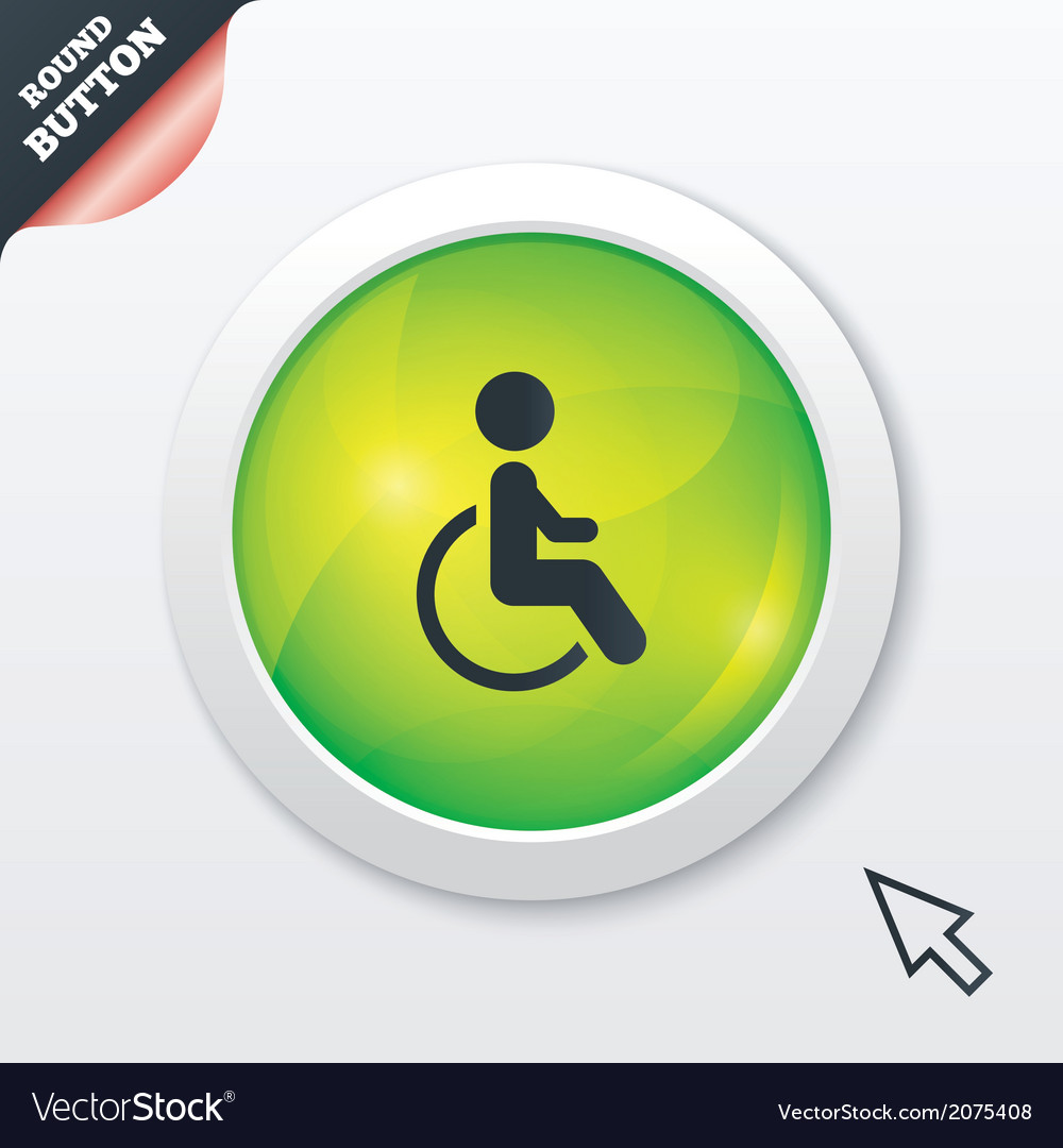 Disabled sign icon human on wheelchair symbol vector | Price: 1 Credit (USD $1)