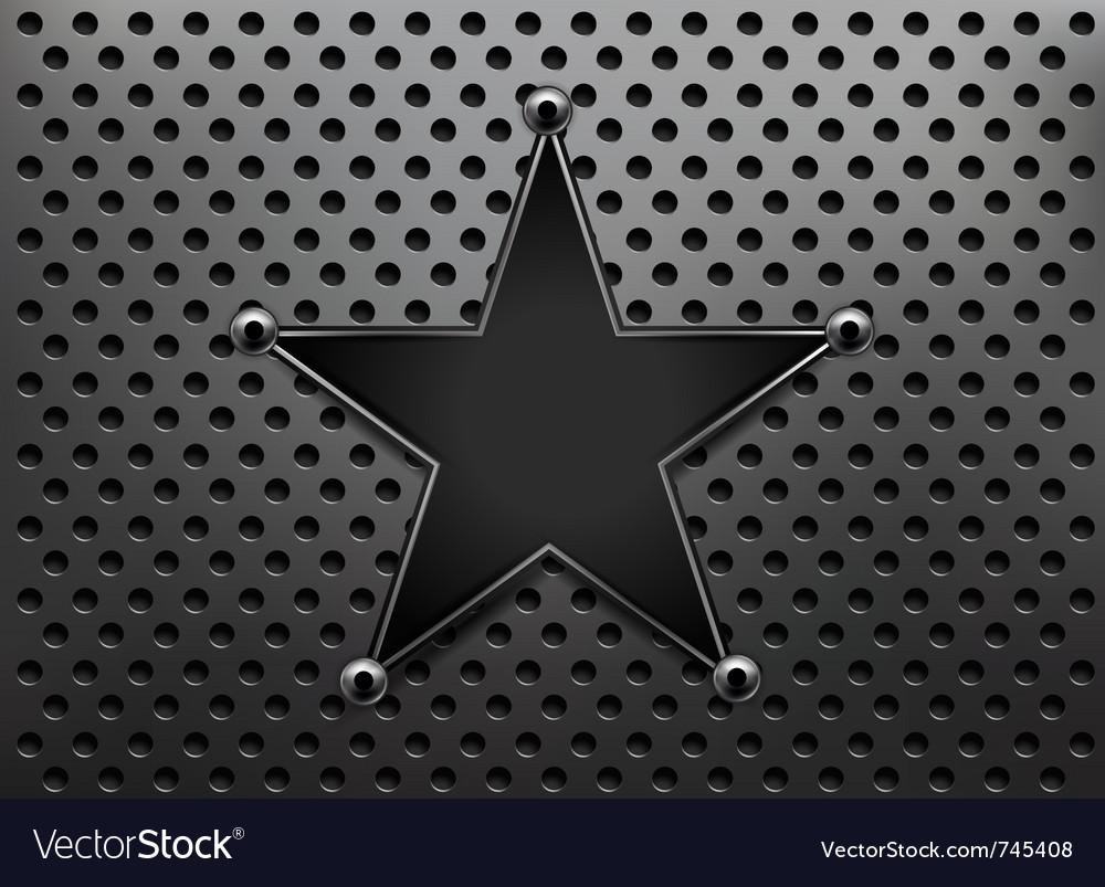 Metallic star background vector | Price: 1 Credit (USD $1)