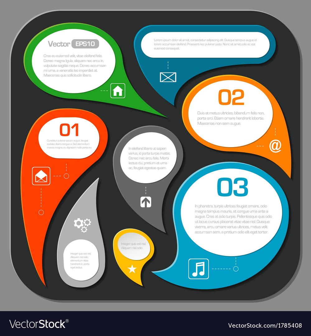 Modern speech bubble layout design - infographics vector | Price: 1 Credit (USD $1)