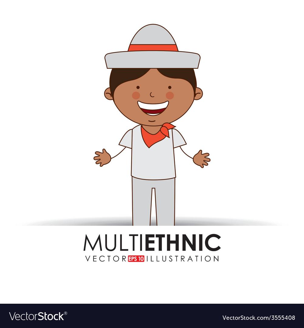 Multi ethnic vector | Price: 1 Credit (USD $1)