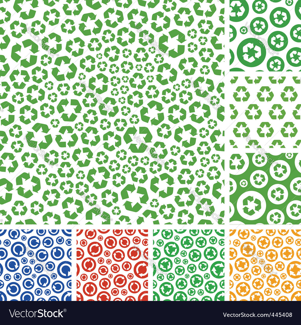 Recycle pattern vector | Price: 1 Credit (USD $1)